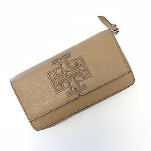 Tory Burch Tan Zip Wallet